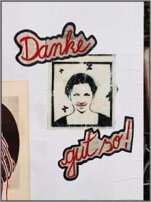 erhaltenswert und gelobt: Stencil von unbekannt