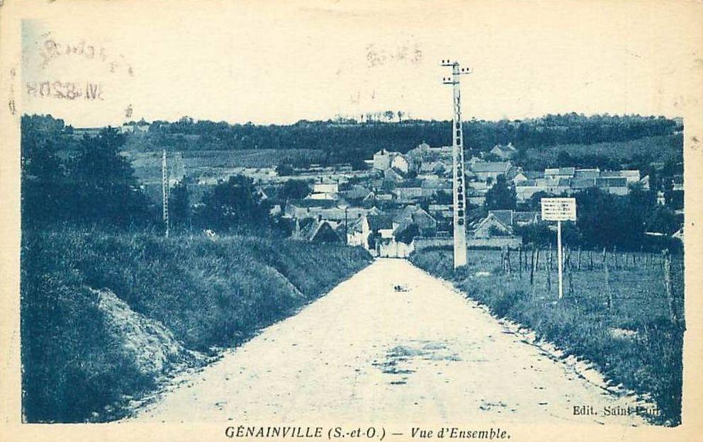 cartes postales anciennes entree du village