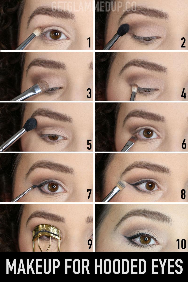 Eyebrows For Hooded Eyes : eyebrows, hooded, VIDEO:, Makeup, Hooded, Apply, Eyeshadow,, Liner,, Brows, Marie