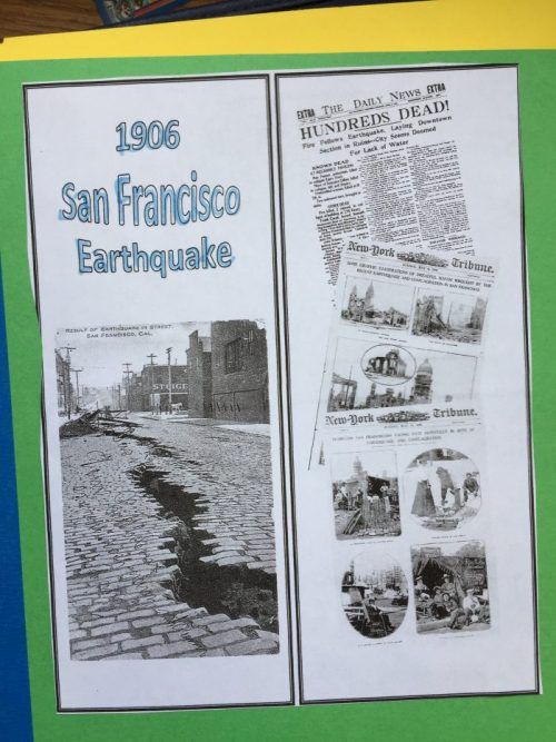 "Historical Stories of Survival, a review of the unit study by Justine Gamble about the 1906 San Francisco earthquake, based on the popular ""I Survived"" book"