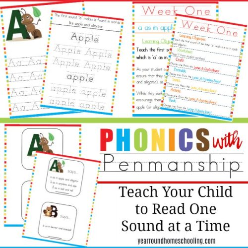 Phonics With Penmanship new curriculum for preschool and kindergarten, on sale this week