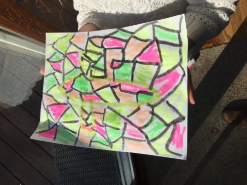 Stained Glass painted with Kwix Stix