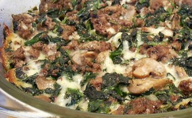 Spinach Beef Bake Linda S Low Carb Menus Recipes