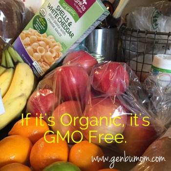Gmo free and organic.