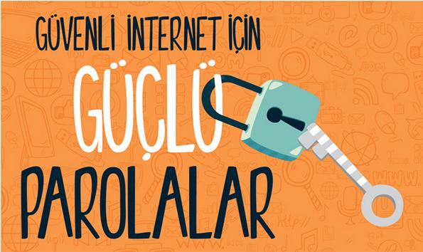 6. Güvenli İnternet İçin Güçlü Parolalar: Öğrenciler, İnternet ortamında güvenli şifre üretme yöntemlerini öğrenecekler ve kendileri için güvenli şifreler üretebilecekler.