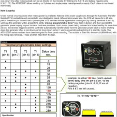 Transfer Switch Wiring Diagram Nissan Navara D40 2010 Automatic Ats Controller Build Your Own