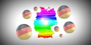 Германия в цветовете на дъгата
