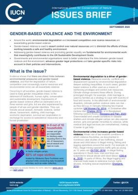 IUCN-Issue-Brief-GBV