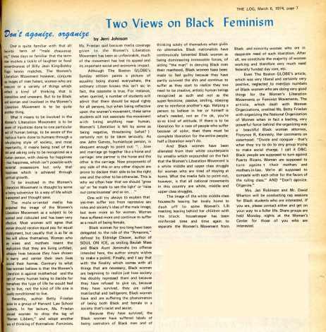 """Two Views on Black Feminism"""