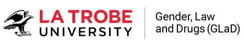 La Trobe University and Gender, law and Drugs combined logo