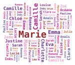Nuage de Mots Prénoms Féminins en Français