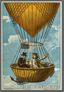 1804 – Gay-Lussac et Biot à 4 000 mètres de hauteur <br> (Chromolithographie du XIXe siècle) <br> Wikimedia Commons