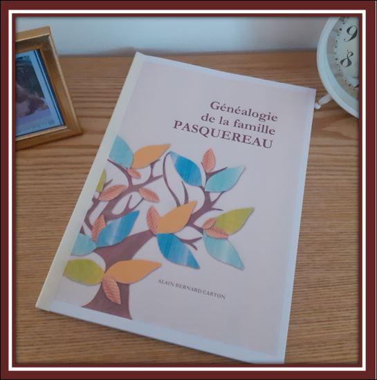 cadre recueil généalogie Pasquereau