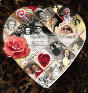 Photo of Digital Scrapbooking on top of a box of chocholates