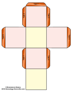 Genealogy-Gencrafts Cube Template