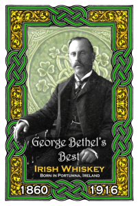 Irish Whiskey label, In memory of George Bethel, 1860-1916