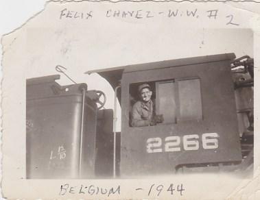 Felix Chavez Sr., Belgium, 1944