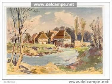 Watercolor view of Berg