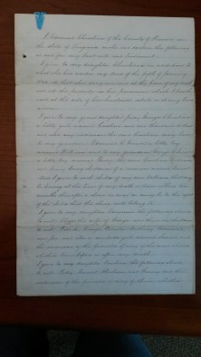 Edmund Christian's Will, Page 1