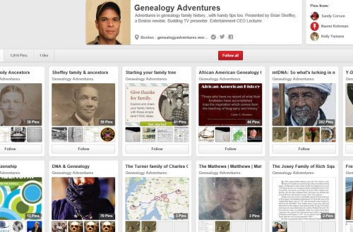 Genealogy Adventures on Pinterest