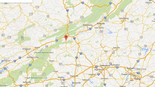 Image of map location for Speedwell Township, Wythe County, Virginia