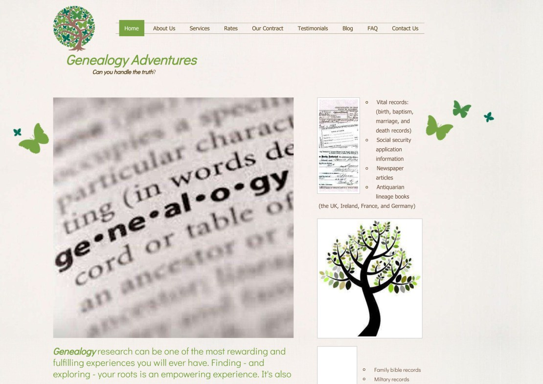 Genealogy Adventures: Genealogy and Family History Research Cent
