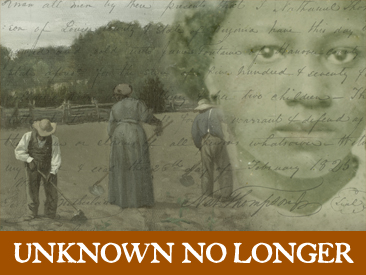 Me, Virginia Historical Society's 'Unknown No Longer' website...and a question answered