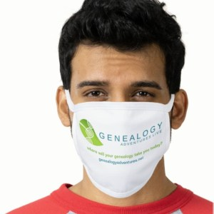 Genealogy Adventures Live Face Mask