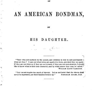 Biography of an American Bondman front cover