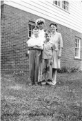 Roscoe with his wife Gladys and their sons, John & Mark (circa July 1942 in Kentland, Indiana)