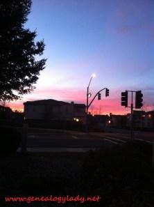 A recent sunset