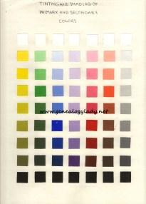 Color chart #2 (c1985-1986)