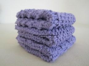 Purple washclothes