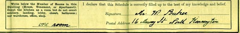 Segment of 1911 census