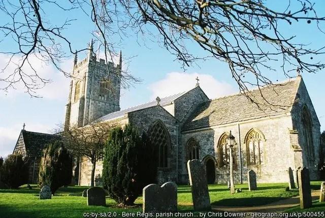 St John the Baptist church, where the Dorset Witch maried