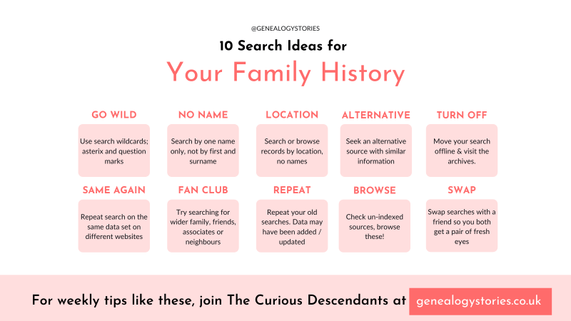 10 genealogy search tips