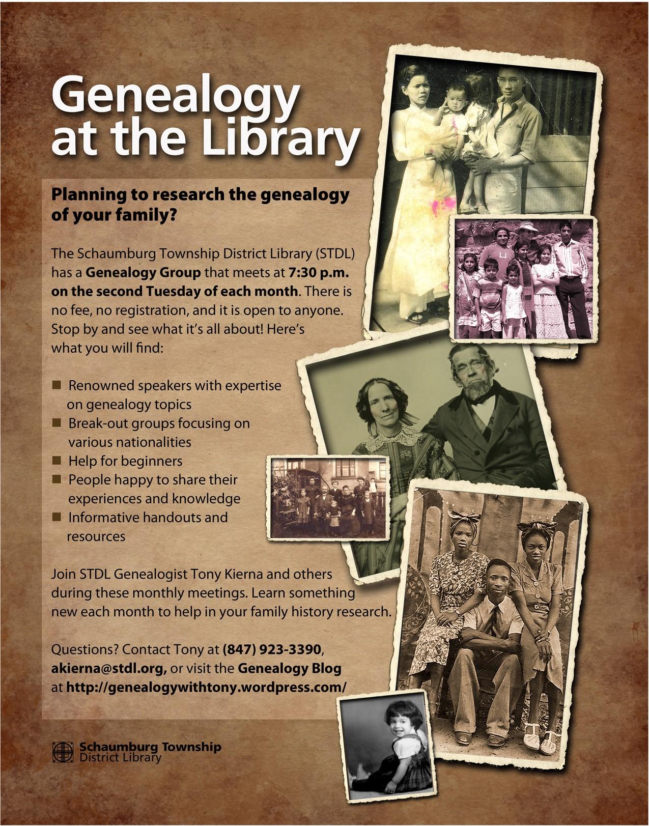 Genealogy Program Flyer  Tonys Genealogy Blog at the