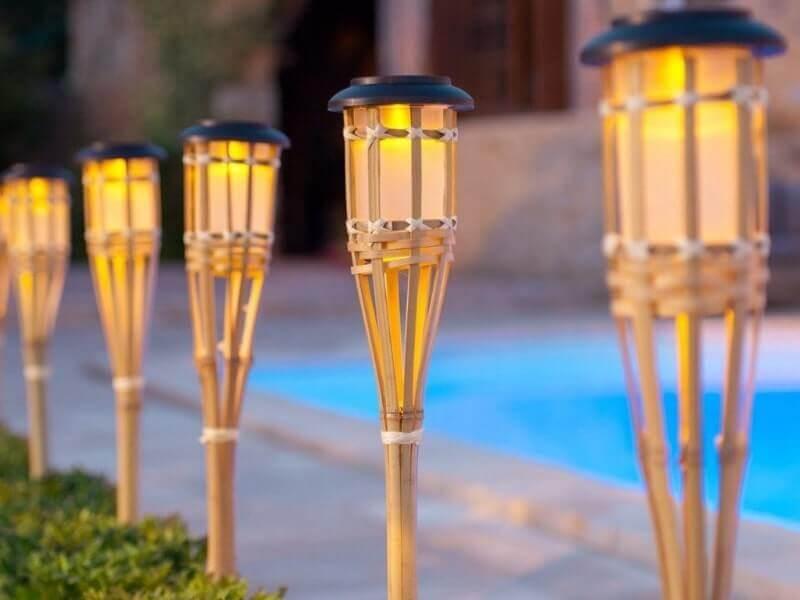 cara membuat tiang lampu dari bambu