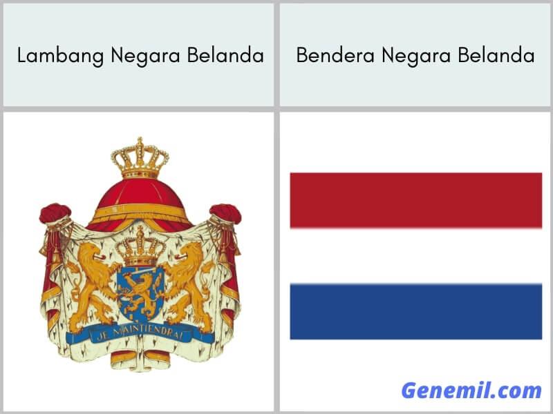 lambang negara dan bendera belanda
