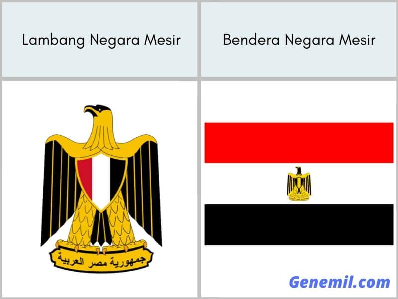 lambang negara dan bendera mesir