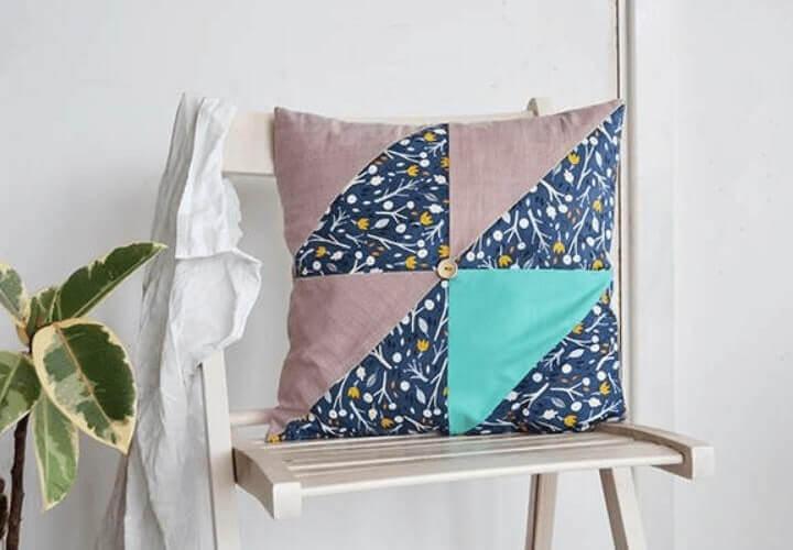 kerajinan-bantal-kursi cantik dari kain perca