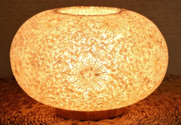 kerajinan lampu hias dari kulit kerang