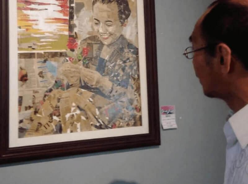 lukisan dari koran bekas