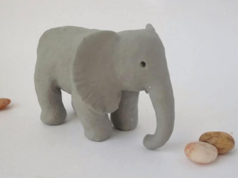 Gajah dari Flour Clay