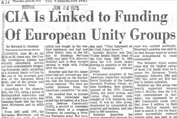 OSS, CIA a eurofederalistické hnutí