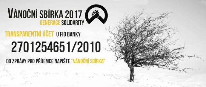 Generace Solidarity - Vánoční sbírka 2017