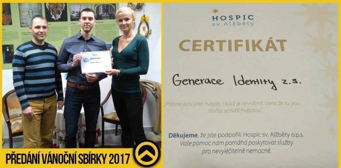 Vánoční sbírka 2017 - podpora hospicu sv. Alžběty v Brně