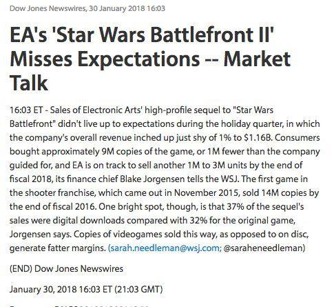 EA anuncia el regreso de las cajas de botín a Star Wars Battlefront II
