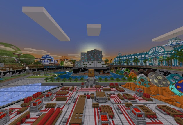 Mapa Blockworks de Minecraft.