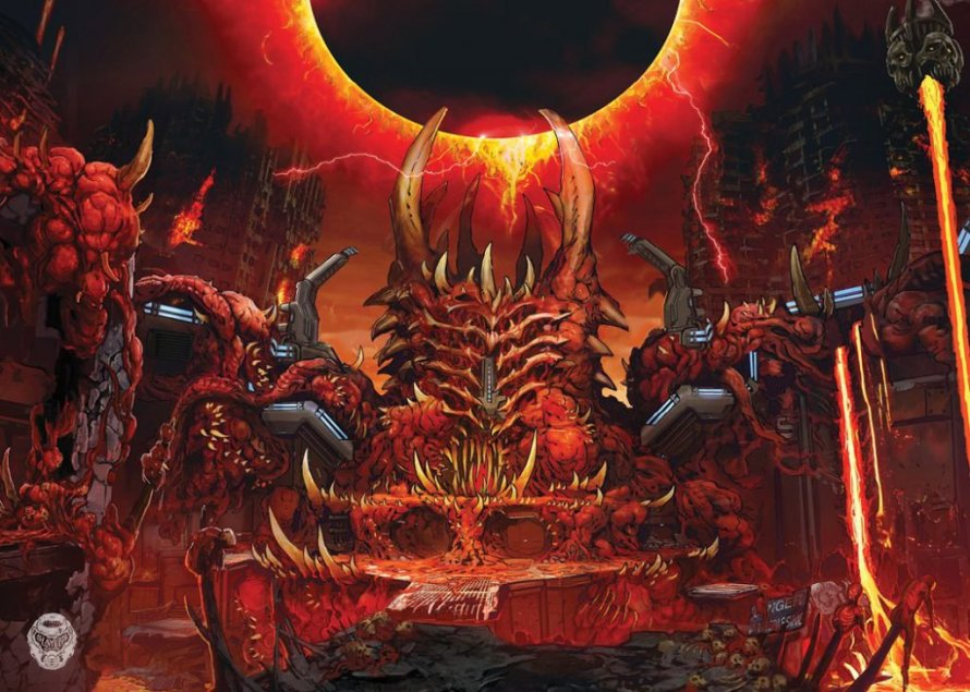 Doom Eternal: un nuevo concept art muestra el Nido Super Gore